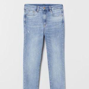 H&M skinny high waisted light denim blue size 30